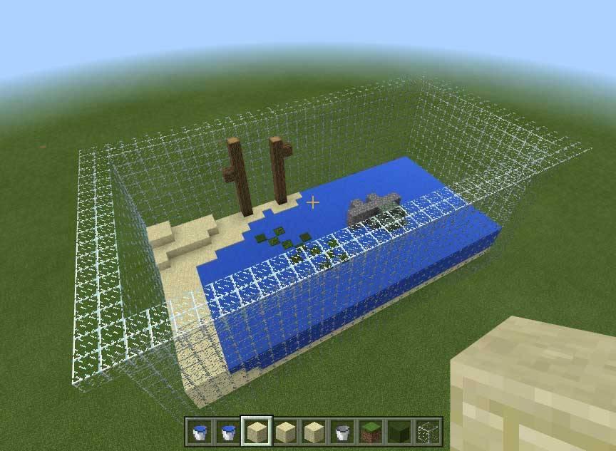 マイクラで作ったヤゴ飼育環境